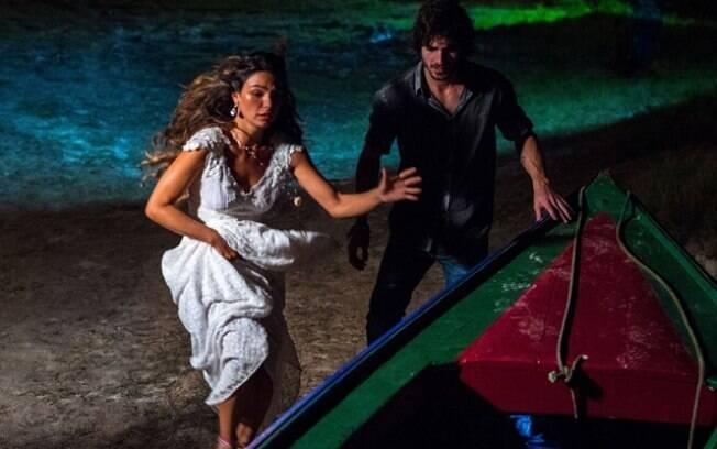 Ritinha e Ruy fogem depois do casamento da moça com Zeca