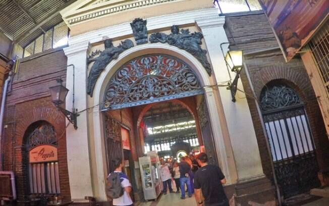 Detalhes do Mercado Central de Santiago