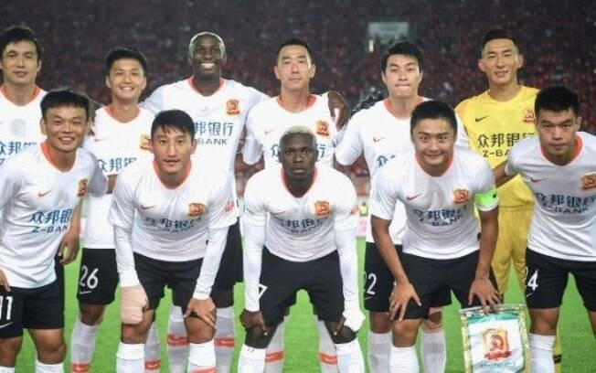 Jogadores do Wuhan Zall