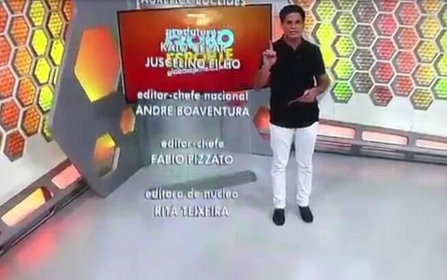 Jornalista Kaio Cézar pediu demissão ao vivo no fim do Globo Esporte do Ceará neste sábado (16)
