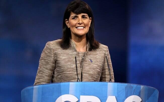 Nikki Haley aceitou o cargo de embaixadora dos EUA na ONU em janeiro de 2017