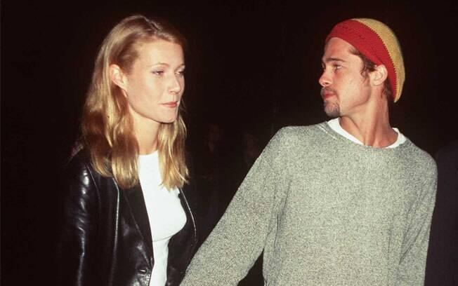 Brad Pitt e Gwyneth Paltrow ficaram noivos durante as filmagens de 'Seven', em 1995. A relação terminou em 1997