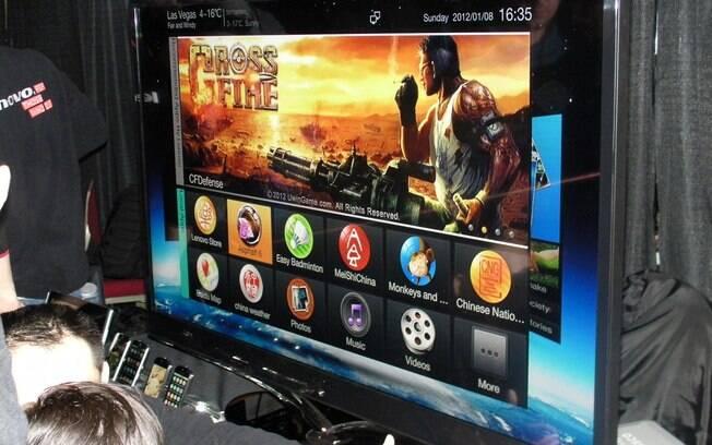 TV da Lenovo, com interface baseada no Android, foi um dos destaques do evento pré-CES