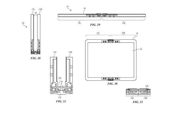 Patente do dispositivo dobrável da Apple