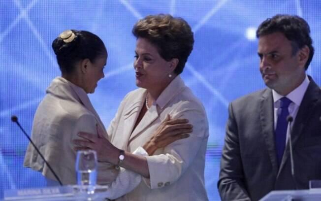 No primeiro turno, Dilma obteve 43,3 milhões de votos, Aécio obteve 34,9 milhões e Marina obteve 22 milhões