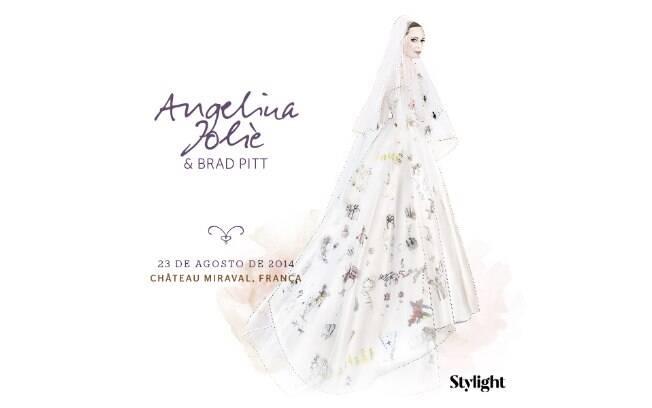 Vestido de noiva: Angelina Jolie