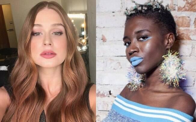 Não precisa ficar só no preto e no marrom na hora da maquiagem, dá para investir nas cores com o look monocromático