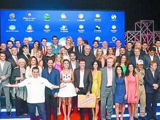 Faltou ela. Elenco da emissora participou do lançamento, ontem, em São Paulo, à exceção de Xuxa