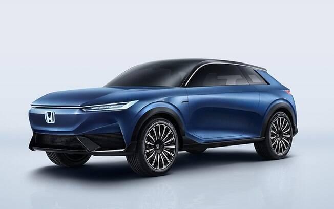 O SUV e: Concept é o primeiro  puro elétrico da Honda mostrada no Salão do Automóvel de Pequim