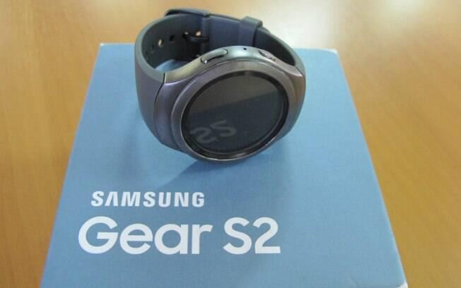 fc42538686e O Samsung Gear S2 é resistente à agua e poeira. Foto  Emily Canto Nunes