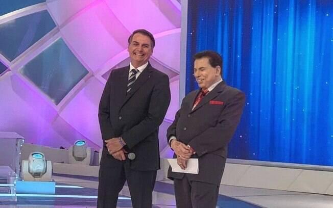 Jair Bolsonaro grava entrevista para programa de Silvio Santos