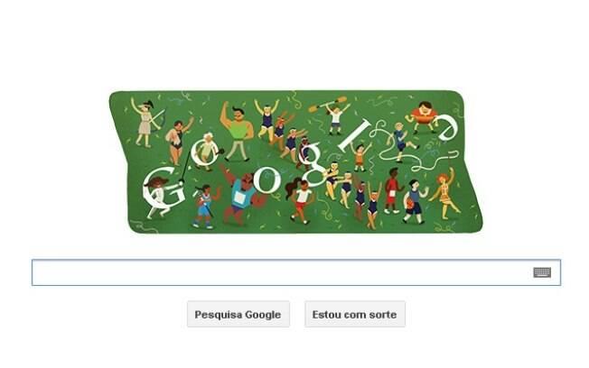 Google cria doodle para representar a cerimonia de encerramento dos jogos