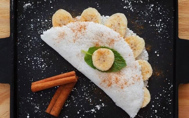 Você pode fazer uma versão doce ou salgada para a tapioca
