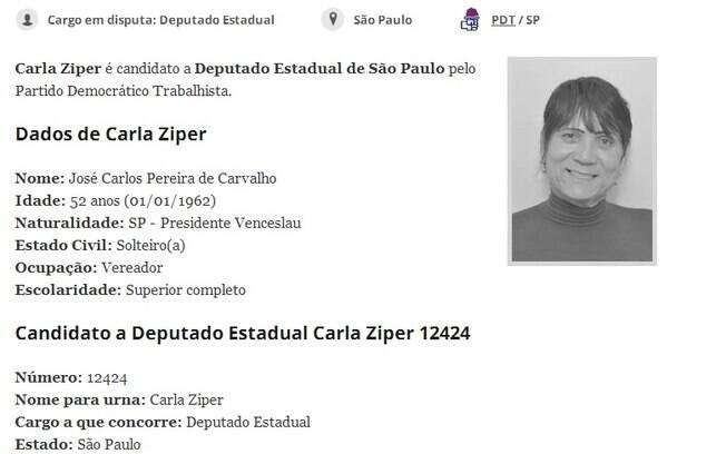 A foto é de Carla Zíper, o nome de José Carlos Pereira de Carvalho