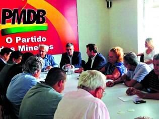 Minas.  Peemedebistas mineiros conversaram com o PSDB quando Saraiva Felipe estava no comando