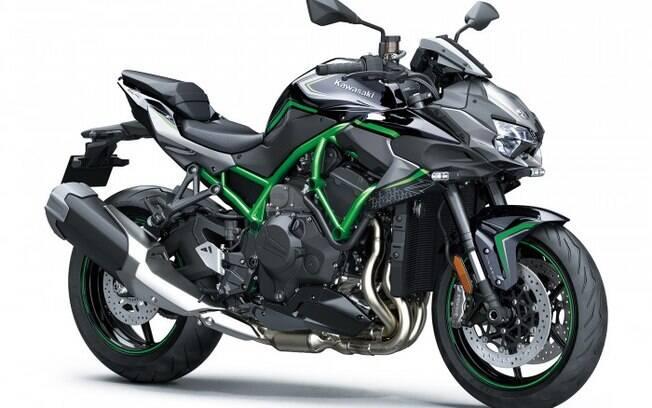 Kawasaki Z H2 é a moto que hoje reina sozinha no segmento que poderá dividir espaço com a nova Yamaha