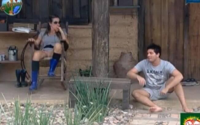 Thiago Gagliasso conta a Joana Machado que bate nas cabras