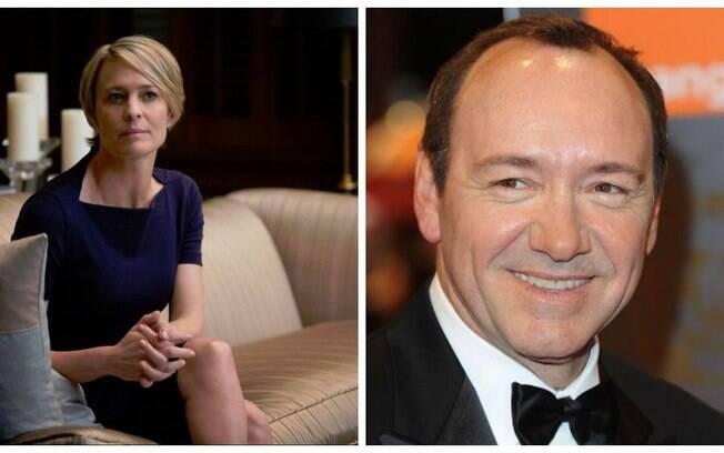 Robin Wright falou pela primeira vez sobre as denúncias de assédio sexual contra Kevin Spacey, com quem atuou em