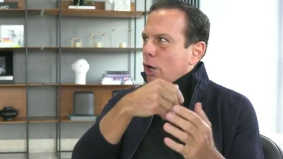 Durante entrevista, o governador de São Paulo aproveitou para chamar o presidente Jair Bolsonaro de