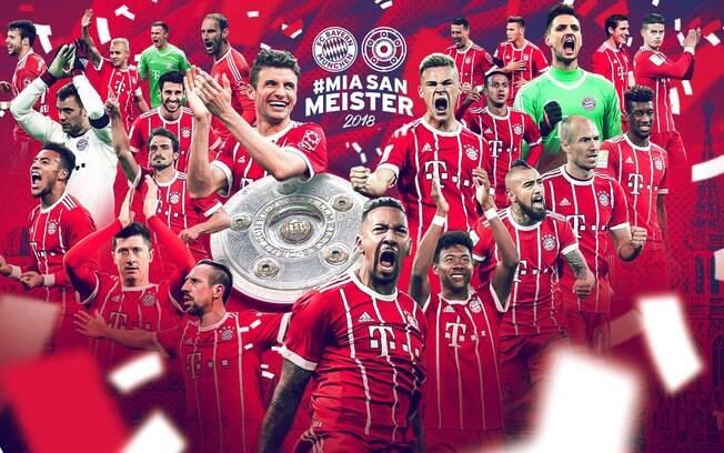Bayern de Munique comemora o sexto título consecutivo do Campeonato Alemão em 2018