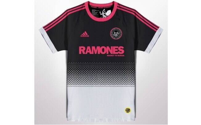 Camisas de futebol com bandas de rock famosas no mundo: Ramones
