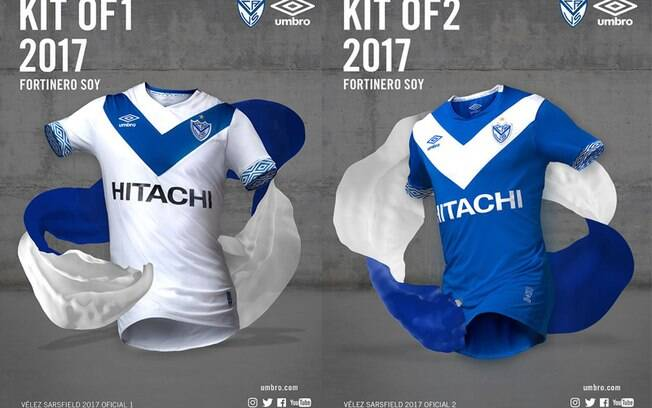 As camisas número 1 e 2 de 2017 do Velez Sarsfield foram escolhidas as mais bonitas, além da número 3