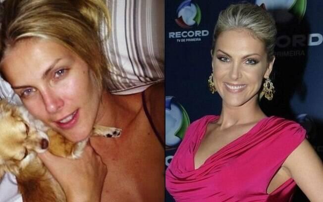 Ana Hickmann publica foto ao acordar (21/08/2012): veja o antes e depois