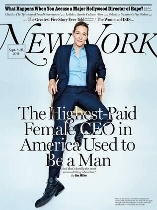 Martine Rothblatt na capa da New York Magazine deste mês