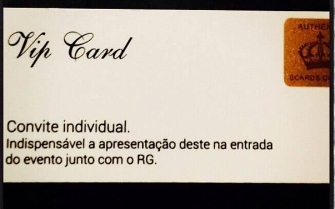 O cartão que dá acesso ao casório de Preta Gil