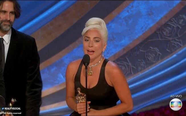 Lady Gaga ganha o Oscar de Canção Original por Shallow