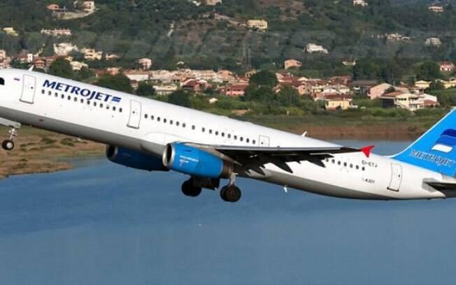O avião da companhia russa MetroJet caiu no Egito, matando os 224 passageiros e tripulantes . Foto: Agência Sputinik