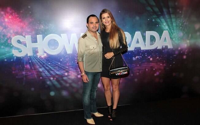 Luciano e a mulher durante participação no Show da Virada 2013