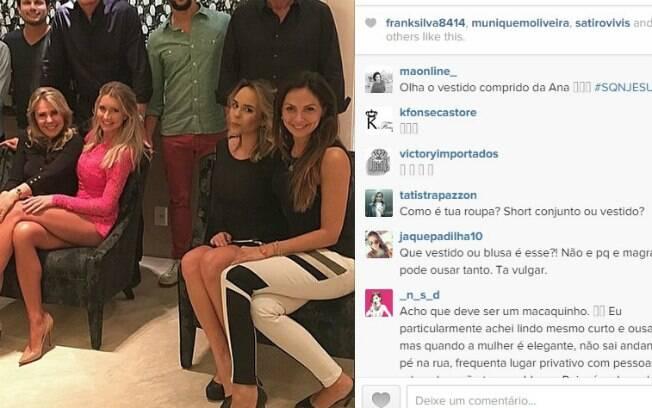 Internautas comentam look de noiva de Justus em rede social