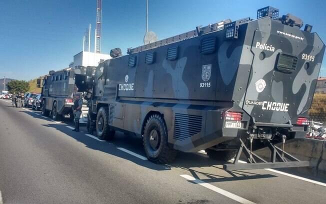 Tropas do Batalhão de Choque garantem a tranquilidade nas estradas do Brasil