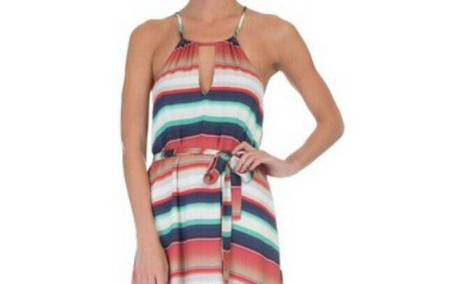 Vestido Mídi Listras Bobstore por R$ 237,90 na promoção