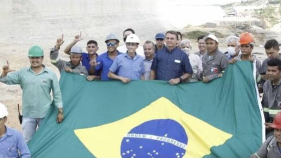 Em evento com Bolsonaro no Rio Grande do Norte, operários teriam feito