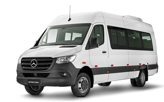 Mercedes-Benz Sprinter 2020 na versão recém-apresentada para passageiros 19 + 1 vendida atualmente