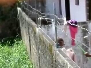 Vizinho flagra mulher agredindo tia idosa