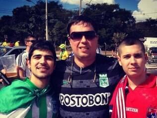 Família veio junta ver a Copa e adotaram o Brasil para torcer