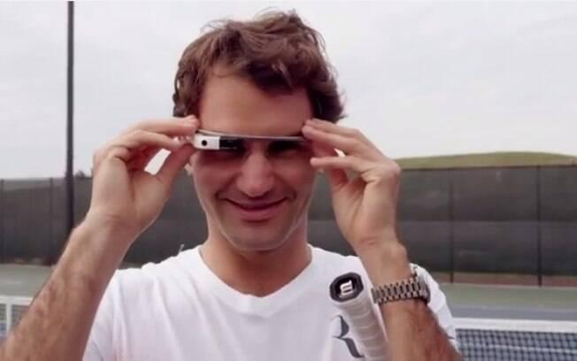 Roger Federer testou o Google Glass em uma partida recreativa