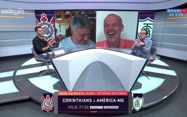 Telefone de Cleber Machado toca e interrompe 'Seleção SporTV'