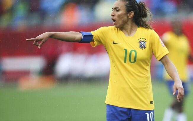 Marta é a maior artilheira da Copa do Mundo de futebol feminino
