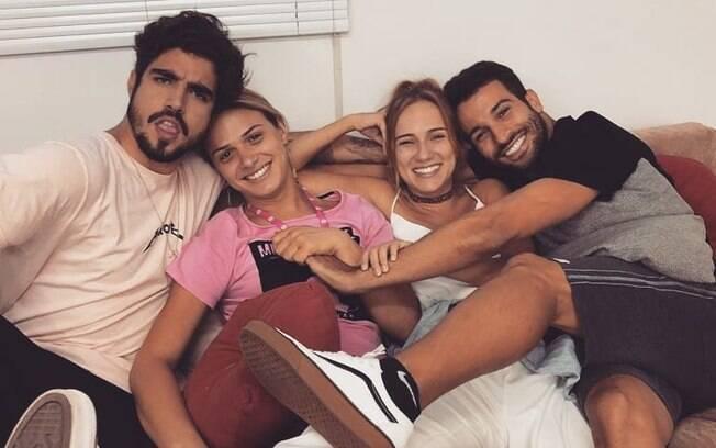 Glamour Garcia e elenco de