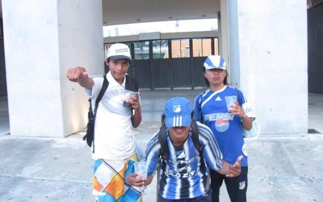 Ambiente no estádio do Pacaembu antes da  partida entre Corinthians e Millonarios, pela Copa  Libertadores