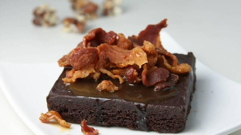 Brownie de bacon? Ele existe e é delicioso!