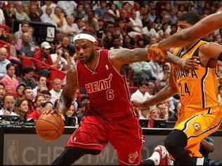 Miami Heat aproveitou o fato de jogar em casa e derrotou o Indiana Pacers por 97 a 94