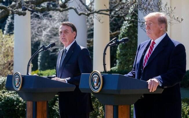 Jair Bolsonaro e Donald Trump informaram hoje que os EUA não vão sobretaxar o aço e o alumínio brasileiros
