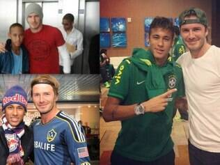 Com montagem de Neymar, Beckham mostra apoio ao camisa 10 do Brasil