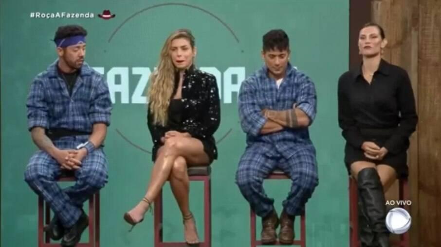 Rico, Erika, Tiago e Dayane estão na roça