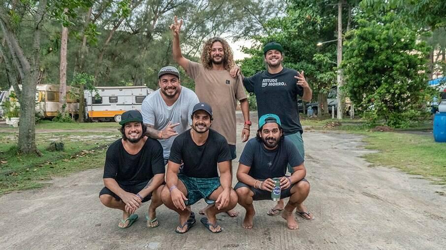 Karan, Regê, GP, Eric, Leandro e Pedrinho